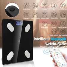 LED bluetooth Wireless Digital Bathroom Weight Scale Body Fat Measures Weight