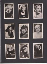 MARLENE DIETRICH MOVIE FILM STAR 77 Vintage ROSS Photo Cigarette Cards 1930's