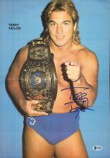 Terry Taylor Signed Magazine Centerfold Poster BAS Beckett COA WWE UWF Autograph