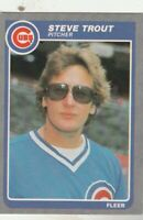 FREE SHIPPING-MINT-1985 Fleer #70 Steve Trout Chicago Cubs PLUS BONUS CARDS