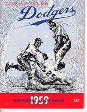 1959 Los Angeles Dodgers Baseball Yearbook magazine Don Drysdale Sandy Koufax~Fr