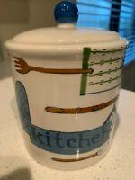 Trish Richman Kitchen Canister Vintage & Sealed Gasket White, Tea, Sugar, coffee