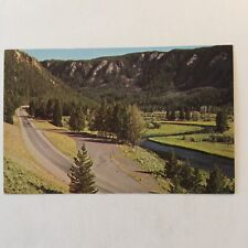 Madison River Canyon Yellowstone Park Unposted Postcard