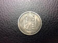 1890 Great Britain Victoria Dei Gratia Silver Coin RARE