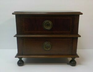 GREAT 19th C. ANTIQUE SALESMAN'S SAMPLE or CHILD'S MINIATURE MAHOGANY CHEST