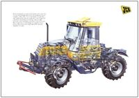 Vintage JCB Fastrac 145 Turbo Cutaway Tractor Poster Brochure RARE (A3)