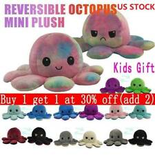 Double Sided Flip Reversible Octopus Plush Toy Marine Life Stuffed Animals Doll