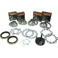 2 Koyo Rear Wheel Bearings & Lock Nut Tool for Toyota Landcruiser 1990-2018