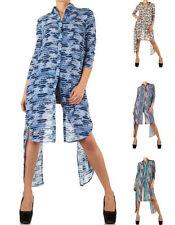 3/4 Arm Damenblusen, - tops & -shirts mit klassischem Kragen aus Polyester