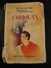 Coriolan - Shakespeare - 1937