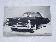 Vintage 1954 Ford Motor Co. CONTINENTAL 195X Car of Tomorrow Vending Card