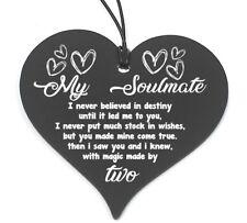 #690 Plaque Boyfriend Wife Gift Shabby Chic Hanging Heart Birthday Valentine