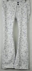 Obermeyer Womens Printed Bond Stretch Ski Pants 15013 Feline Frost Size 8