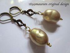 Vintage baroque pearl drop earrings Tudor Renaissance Art Nouveau Art Deco bride