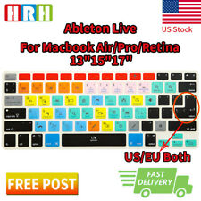 Ableton Live Shortcuts Keyboard Cover Silicone Skin for MacBook Air Pro 13 15 17