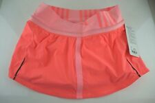 NWT LULULEMON RUN PACE SKIRT w/ SHORTS PORA/BLEC/OCSB Bright Pink Luxtreme NEW 6