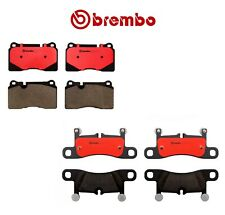 For Volkswagen Touareg 11-15 Pair Set of Front and Rear Disc Brake Pads Brembo