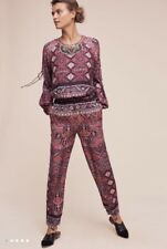 Anthropologie Rosewood Jumpsuit Sz S 4 6 Small Plum Cynthia Vincent New