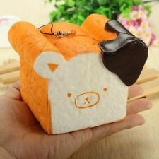 1pc 11CM Giant Rilakkuma Squishy Phone Strap Bread Scent Toast Slow Rising Gift