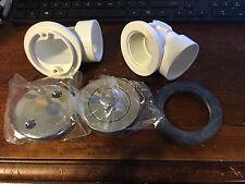 Sch. 40 PVC Bath Waste Half Kit with Lift & Turn Bathtub Stopper in Chrome. NIB