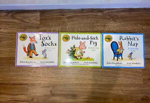 THREE TALES FROM ACORN WOOD BOX SET Bundle HARDBACK Fox Socks Rabbit's Nap