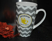 LATTE MUG MONTH SCORPIO  Zodiac Astrology Symbol Birthday Oct Nov Porcelain