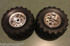 NEW TAMIYA WILD WILLY 2000 Part Front Tire & Chrome Wheel Set Item NO. 9805618