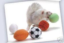 Marshall Ferret Sport Sports Balls -2 Plush Fleece Toys w Bell