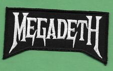 "New MegaDeth 2 X 4"" Inch Iron on Patch Free Shipping"