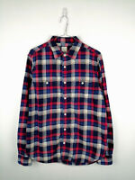 Retro Mens Gap Flannel Shirt Size M Multi Check Long Sleeve 100% Cotton Button