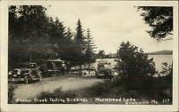 Greenville ME Moosehead Lake Beaver Creek Tenting Grounds Real Photo Postcard