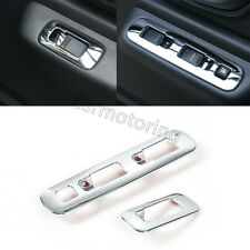 Silver Door Window Switch Panel Button Cover Trim fit for Suzuki Jimny 2007-2015
