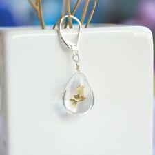 a Pair Mermaid Transparent Waterdrop Silver French Drop Earrings For Women Boho