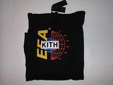 Kith EEA Globe Hooded Sweatshirt Black Men's Size Large NWT! Hoodie Ronnie Fieg
