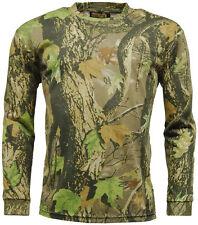 Figurbetonte Langarm Herren-T-Shirts aus Baumwolle mit Camouflage-Muster