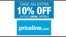 2X Priceline.com 10% Off promo code Express Deal No max discount limit Priceline