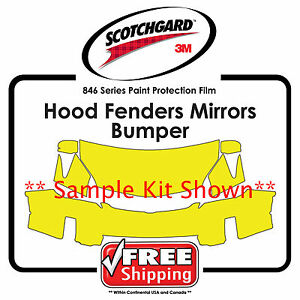 Kits for Nissan - 3M 846 Scotchgard Paint Protection Film - Hood Bumper Fenders