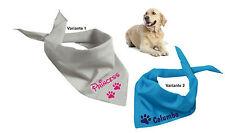 Hundehalstuch mit Namen bedruckt in 16 Farben Dreieckstuch Hund Hals Tuch