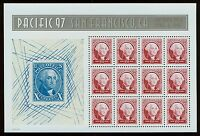 #3140 60c Pacific 97: Washington, Souvenir Sheet, Mint