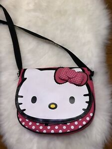 Hello Kitty with Bow Glitter LOVE and Face Girls Coin Purse One Size New