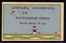 LIGHTHOUSES | Colombia Air Post 1920 | Scott C6 ungummed as issued | RARE!