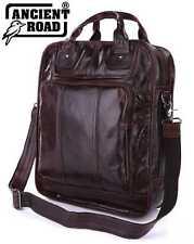 """Vintage 100% Genuine Leather Mens Backpack 14"""",15"""" Laptop Bag Shoulder Bag JM269"""