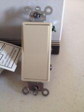 X10 Leviton 5604-2I 15 Amp Decora Rocker 4-Way AC Quiet Switch Ivory Grounding