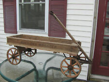 Antique E.C. Simmons Koaster Wood Child's Pull Wagon