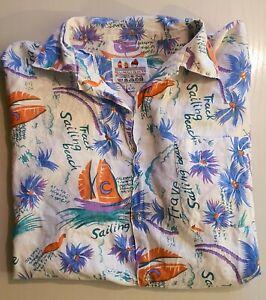 Hawaii Hemd Vintage Cotton Surfer Oldschool shirt 90s surf Gr. L 41/42 Aloha !