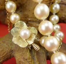 Klassische Perlenkette mit 585 Gelbgold