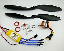K043wpK:1 set BL motor KV1030, ESC & 2 Props(0947,1047) FW:650g for RC Airplane