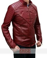 Superman Red Smallville Leather Shield Jacket - 100% Money Back Guarantee!!