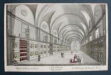 Rome Roma Rome visionneuse Feuille OPTICAL VIEW original pour 1770 Bibliothèque Vatican