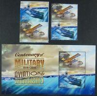 Australien Australia 2014 Hist. Flugzeug U-Boot Airplane Submarine Militär MNH